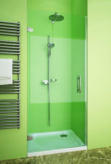 Душевая дверь в нишу GuteWetter Lux Door GK-002B левая 118 см стекло бесцветное, фурнитура хром перегородки ванной комнате